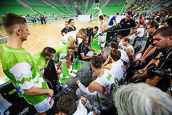Team Slovenia during qualifying match between Slovenia and Kosovo for European basketball championship 2017,  Arena Stozice, Ljubljana on 31th August, Slovenia. Photo by Grega Valancic / Sportida