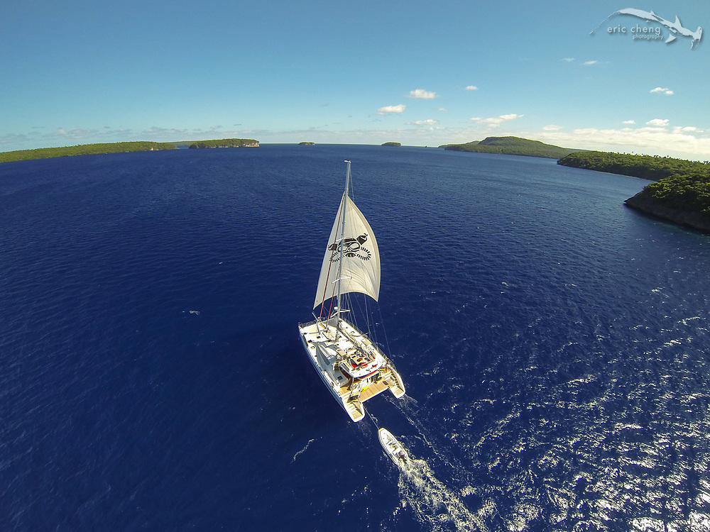 The S/Y Bella Principessa in Vava'u, Tonga