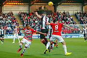 Mateo Muzek of St Mirren gets a shove in the back from George Oakley of Hamilton during the Ladbrokes Scottish Premiership match between St Mirren and Hamilton Academical FC at the Paisley 2021 Stadium, St Mirren, Scotland on 13 May 2019.