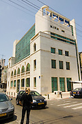 Israel, Tel Aviv, Renovated Bauhaus building at 35 Ehad Haam Street. Originally built in 1925. Renovated and modernized in 1993. UNESCO has declared Tel Aviv an international heritage due to the abundance of the Bauhaus architectural style