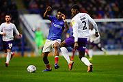 Ellis Harrison of Portsmouth in action during the EFL Sky Bet League 1 match between Portsmouth and Shrewsbury Town at Fratton Park, Portsmouth, England on 15 February 2020.