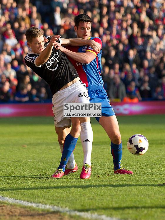 Scott Dann & Joste Fonte Crystal Palace v Southampton Premiership  Premiership 8/3/2014 (c) Steve Ball|/Sportpix.org.uk(c) Steve Ball| SportPix.org.uk