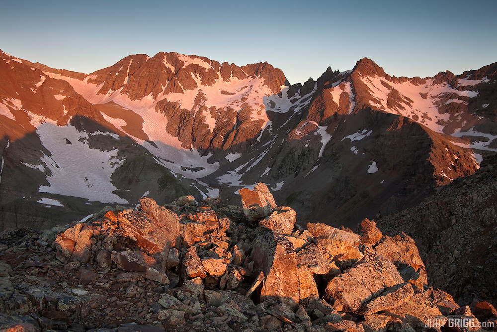 Sunrise, Conundrum Peak 14,060ft, Elk Mountains, Colorado.