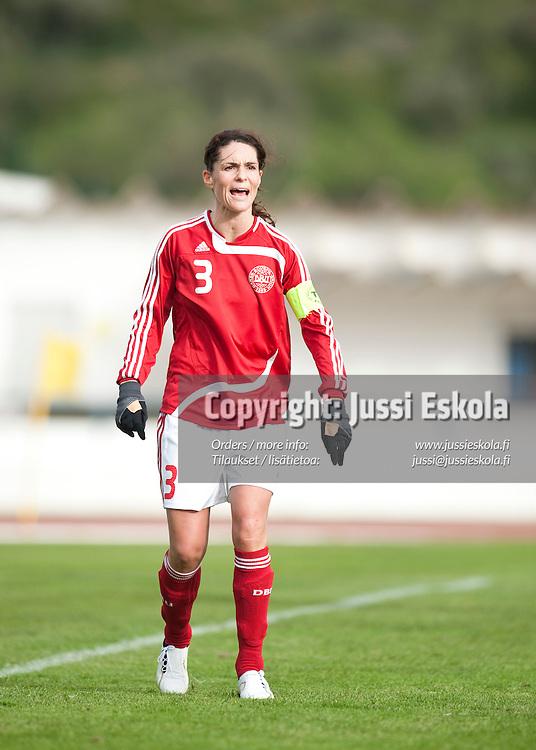 Katrine S. Pedersen. Tanska - Norja. Algarve Cup, Portugali 6.3.2009. Photo: Jussi Eskola