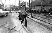 Rosalynn Carter, wife of Democratic presidential nominee Gov. Jimmy Carter (background) returns home to One Woodland Drive in Plains, Georgia after three weeks on the presidential campaign trail.- To license this image, click on the shopping cart below -
