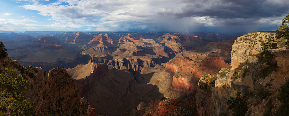 Even in this panoramic view of the Grand Canyon we can only see a small segment of it's total length.