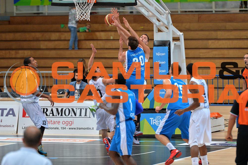 DESCRIZIONE : Trento 2' Memorial Gianni Brusinelli Lega A 2014-15 Dolomiti Energia B.Trento vs Acqua Vitasnella Cant&ugrave;<br /> GIOCATORE : Stefano Gentile <br /> CATEGORIA : Tiro precario<br /> SQUADRA : Acqua Vitasnella Cant&ugrave;<br /> EVENTO : 2' Memorial Gianni Brusinelli <br /> GARA : Dolomiti Energia B.Trento vs Acqua Vitasnella Cant&ugrave;<br /> DATA : 14/09/2014 <br /> SPORT : Pallacanestro <br /> AUTORE : Agenzia Ciamillo-Castoria/I.Mancini<br /> Galleria : Lega Basket A 2014-2015 Fotonotizia : Trento 2' Memorial Gianni Brusinelli  Lega A 2014-15 Dolomiti Energia B.Trento vs Acqua Vitasnella Cant&ugrave;<br /> Predefinita :