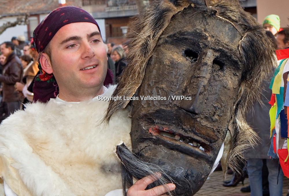 Antruejo (Carnival). Caretón. Llamas de la Ribera. León. Castilla y León. Spain