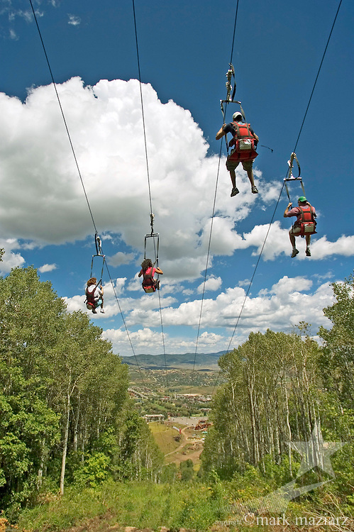 Ziprider zipline at Park City Mountain Resort, Park City, UT USA