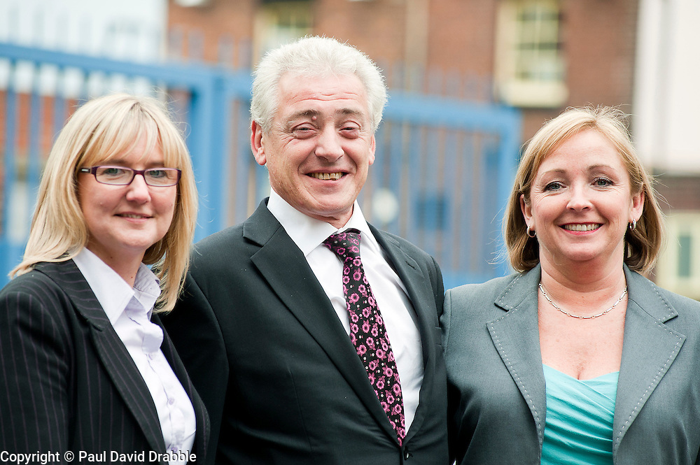 Genting Club Croupier School in Sheffield left to right Kath Barton, Mark Ross and Jo kinder..13 June 2012.Image © Paul David Drabble