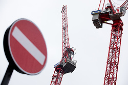 © Licensed to London News Pictures. 15/01/2018. London, UK. Cranes operated by the construction firm Carillion are seen in central London. Today, Carillion has gone into compulsory liquidation putting thousands of jobs at risk. Photo credit : Tom Nicholson/LNP