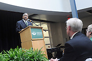 ARC Grand opening on Sat., May 8.President McDavis addresses the crowd gathered for the ARC grand opening.