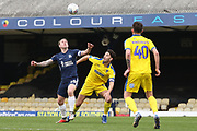 AFC Wimbledon defender Will Nightingale (5) battles for possession with Southend United attacker Simon Cox (10) during the EFL Sky Bet League 1 match between Southend United and AFC Wimbledon at Roots Hall, Southend, England on 16 March 2019.