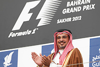 MOTORSPORT - F1 2012 -  BAHRAIN GRAND PRIX - SAKHIR (BHR) - 19 TO 22/04/2012 - PHOTO : FREDERIC LE FLOC'H / DPPI - <br /> HIS ROYAL HIGHNESS PRINCE SALMAN BIN HAMAD AL KHALIFA CROWN PRINCE / AMBIANCE / PORTRAIT