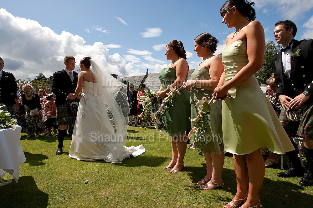 Perth,Tayside, Scotland. The wedding of Rhona and Callum at Murrayshall  Hotel by.