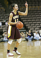 25 JANUARY 2007: Minnesota guard Brittany McCoy (12) calls a play in Iowa's 80-78 overtime loss to Minnesota at Carver-Hawkeye Arena in Iowa City, Iowa on January 25, 2007.