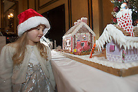 27/11/2014 Repro freeThe wonder of Christmas!  Lia Corcoran Clarinbridge took a peek at Hotel Meyrick&rsquo;s stunning creation of a traditional Gingerbread train station and set which is on display in the parlour lounge until Christmas Eve when it will be donated to the St Bernadette&rsquo;s children&rsquo;s ward at University College hospital Galway, www.hotelmeyrick.ie. <br />  . Photo:Andrew Downes