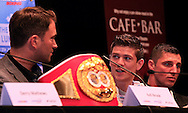 Picture by Richard Gould/Focus Images Ltd +44 7855 403186<br /> 22/06/2013<br /> Luke Campbell (2nd left) speaks about his fight pictured during a press conference at Hull City Hall.