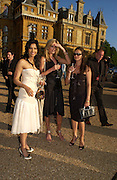 Padma Rushdie, Penny Lancaster and Claudia Burgh Leather, Louis Vuitton classic and celebration of their 150 anniversary. Waddesdon Manor, June 4 2004. ONE TIME USE ONLY - DO NOT ARCHIVE  © Copyright Photograph by Dafydd Jones 66 Stockwell Park Rd. London SW9 0DA Tel 020 7733 0108 www.dafjones.com