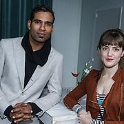 NLD/Amsterdam/20131104 - Lunch genomineerde Musical Awards Gala 2013, Edwin Jonker en Christanne de Bruijn