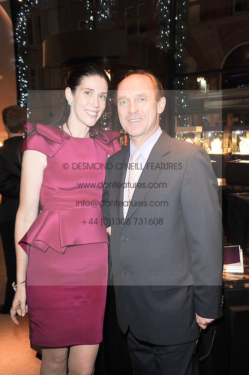 COUNT CARL-EDUARD VON BISMARCK and his wife COUNTESS NATHALIE VON BISMARCK at a party to celebrate the publication of her book 'Invisible' held at Asprey, 167 New Bond Street, London on 9th December 2010.