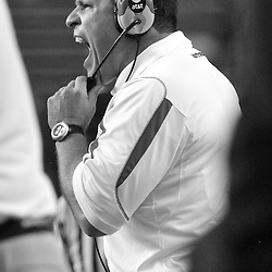 Sept 27, 2008; Piscataway, NJ, USA; Rutgers head coach Greg Schiano yells instructions to his defense during the fourth quarter of his team's 38-0 victory over the Morgan State Bears.