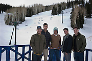 Left to right: Founder and CEO Elliott Bisnow, Co-Founder Brett Levy, Partner and Chief Reconaissance Officer Thayer Walker, Chef Alan Del Toro, and Head of Production Adam Dexter at the Powder Mountain Ski Resort, Monday, Dec. 3, 2012.