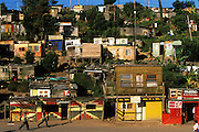 A shanty town at the outskirts of the black township Khayalethu South in Knysna, Western Cape Province, South Africa, in December, 2006. Many different ethnic group live here but the majority are Xhosa whose original home territory lie in the Eastern Cape Province.