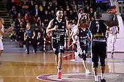 esultanza Amedeo Tessitori<br /> Unicusano Roma - Angelico Biella<br /> Campionato Basket LNP 2016/2017<br /> Roma 29/01/2017<br /> Foto Ciamillo-Castoria