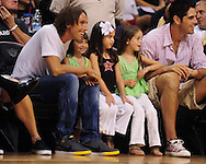 Aug 26, 2010; Phoenix, AZ, USA; Phoenix Suns guard Steve Nash sits court side during game one of the western conference semi-finals in the 2010 WNBA Playoffs at US Airways Center.  The Mercury defeated the Silver Stars 106-93.  Mandatory Credit: Jennifer Stewart-US PRESSWIRE