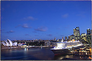 Copyright JIm Rice © 2013. Queen Mary 2 docked in Sydney