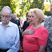 MIAMI, FLORIDA, APRIL 17, 2018<br /> Relatives and friends of the 2506 Brigade members commemorate  the 57th anniversary of the failed assault on Bay of Pigs  at their memorial in Little Havana by reading names of the ones who died in the operation.<br /> (Photo by Angel Valentin/Freelance)