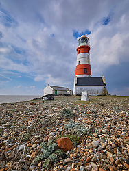 The old lighthouse on Orford Ness in Suffolk