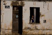 Sao Francisco_MG, Brasil...Fachada de casas no municipio de Sao Francisco, Minas Gerais...The houses facade in Sao Francisco, Minas Gerais...Foto: LEO DRUMOND / NITRO