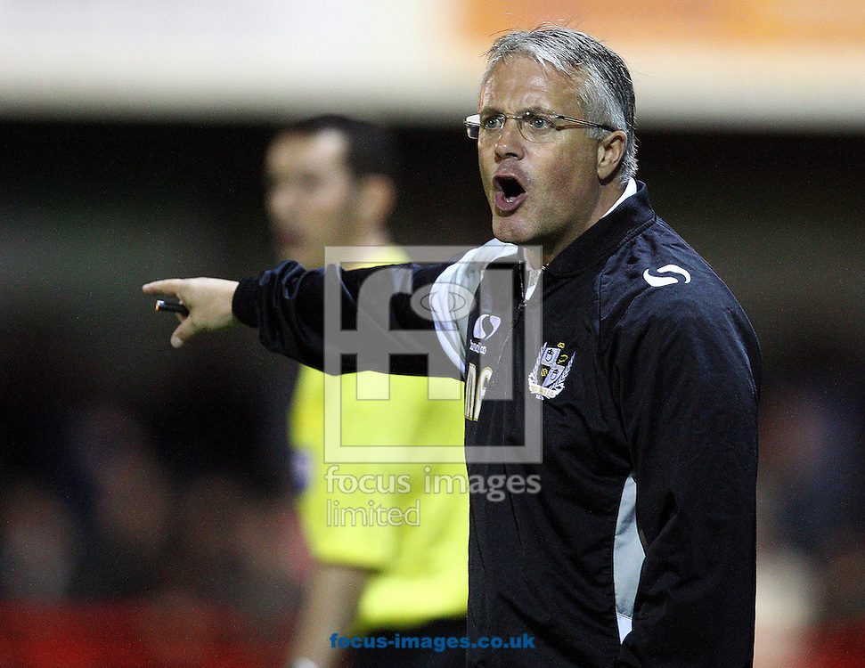 Picture by Paul Terry/Focus Images Ltd +44 7545 642257<br /> 22/10/2013<br /> Micky Adams, manager of Port Vale during the Sky Bet League 1 match at Broadfield Stadium, Crawley.