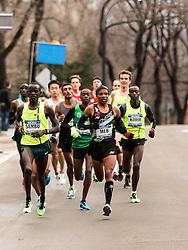 NYRR New York City Half Marathon road race: Meb leads men in Central Park