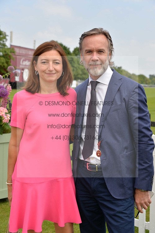 Marcus Wareing and his wife at Cartier Queen's Cup Polo, Guard's Polo Club, Berkshire, England. 18 June 2017.<br /> Photo by Dominic O'Neill/SilverHub 0203 174 1069 sales@silverhubmedia.com