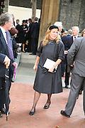 Sarah Duchess of York, Mark Birley funeral. St Paul's , Knightsbridge. London. 19 September 2007. -DO NOT ARCHIVE-© Copyright Photograph by Dafydd Jones. 248 Clapham Rd. London SW9 0PZ. Tel 0207 820 0771. www.dafjones.com.
