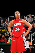 January 22, 2009: Lucy Ellison of the North Carolina State Wolfpack in action during the NCAA basketball game between the Miami Hurricanes and the North Carolina State Wolfpack. The 'Canes defeated the Wolfpack 72-60.
