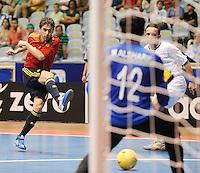 Fussball  International  FIFA  FUTSAL WM 2008   03.10.2008 Vorrunde Gruppe D Libya - Spain Lybien - Spanien DANIEL (ESP) beim Schuss auf das Tor von Mohamed ALSHARIF (LBY)