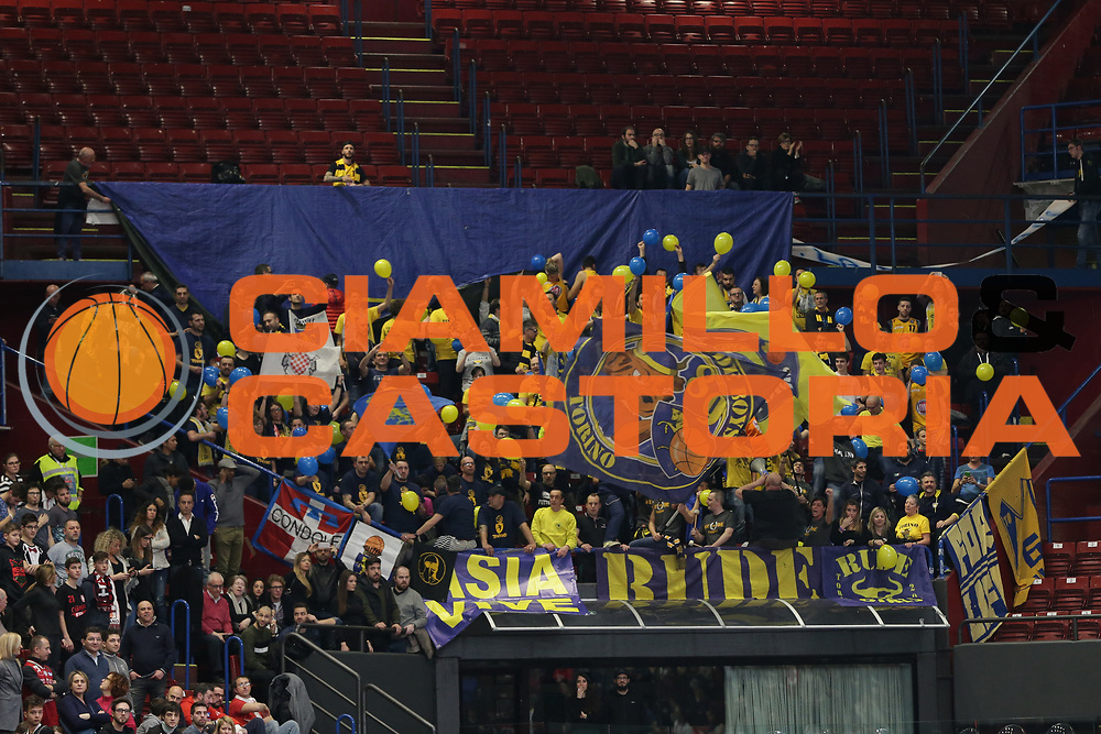 Tifoi Torino<br /> EA7 Olimpia Milano vs Auxilium Fiat Torino<br /> Lega Basket Serie A 2016/2017<br /> Milano 05/03/2017<br /> Foto Ciamillo-Castoria/A. Gilardi