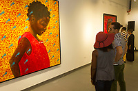 "An opening reception was held Friday, August 11th, 2017 for artist, Solomon Adufah at the Connect Gallery located at 1520 S Harper Court as he presented his new exhibit titled, ""The Image Is Not Available In Your Country"", paintings that are inspired by his travels to Ghana.<br /> <br /> Please 'Like' ""Spencer Bibbs Photography"" on Facebook.<br /> <br /> Please leave a review for Spencer Bibbs Photography on Yelp.<br /> <br /> All rights to this photo are owned by Spencer Bibbs of Spencer Bibbs Photography and may only be used in any way shape or form, whole or in part with written permission by the owner of the photo, Spencer Bibbs.<br /> <br /> For all of your photography needs, please contact Spencer Bibbs at 773-895-4744. I can also be reached in the following ways:<br /> <br /> Website – www.spbdigitalconcepts.photoshelter.com<br /> <br /> Text - Text ""Spencer Bibbs"" to 72727<br /> <br /> Email – spencerbibbsphotography@yahoo.com"