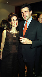 PRINCE & PRINCESS KARL VON AUERSPERG-BREUNNER, at a party in London on 30th November 1999.MZP 5