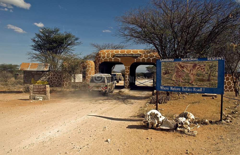 The entrence to Samburu National Park, Kenya.