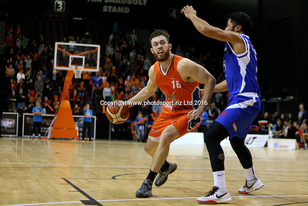 Nick Kay of the Sharks drives down court in the NBL basketball match between the Southland Sharks and Wellington Saints, ILT Stadium Southland, Invercargill, Sunday, May 22, 2016. Photo: Dianne Manson / www.photosport.nz