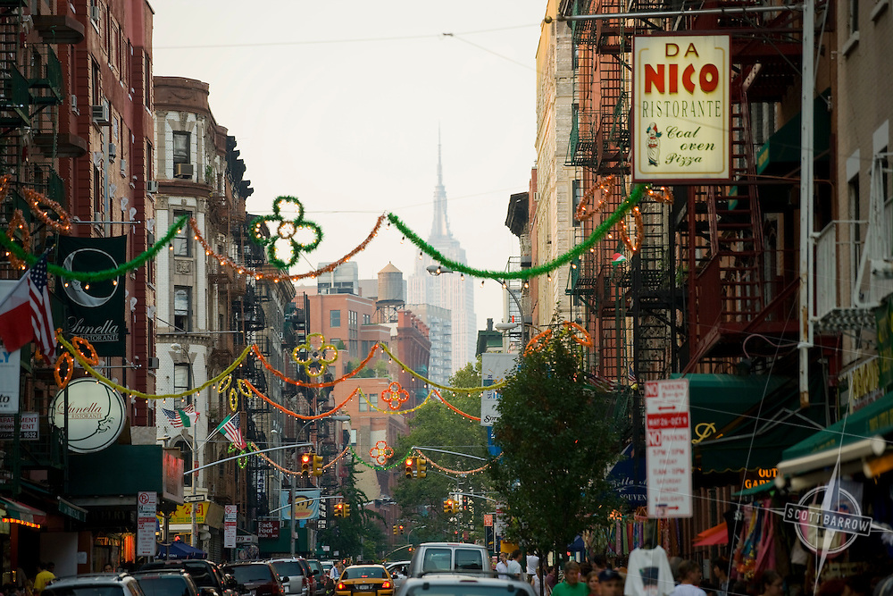 Street Festival during the Feast of San Gennaro in New York City's Little Italy neighborhood.