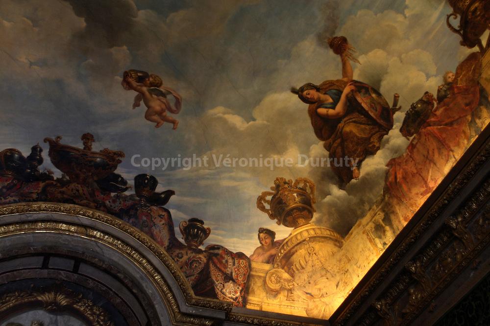 At The Chateau De Versailles.