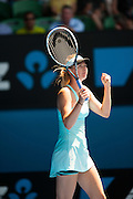 Maria Sharapova (RUS) defeated K. Knapp (ITA) 6-3, 4-6, 10-8 at Melbourne's Rod Laver Arena in Day 4 of the 2014 Australian Open.