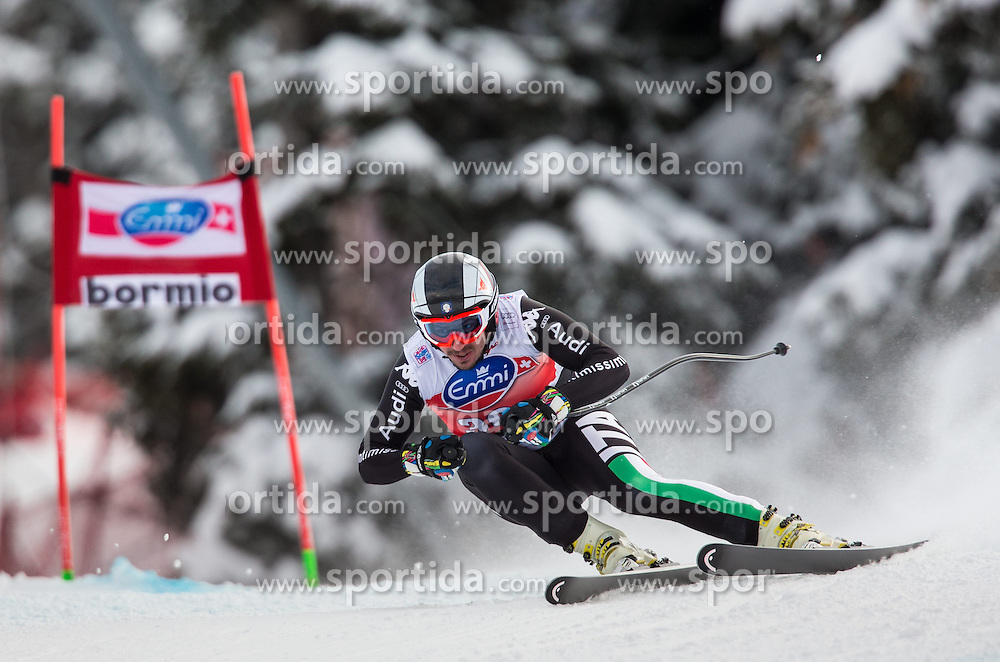 29.12.2013, Stelvio, Bormio, ITA, FIS Ski Weltcup, Bormio, Abfahrt, Herren, im Bild Silvano Varettoni (ITA) // Silvano Varettoni of Italy in action during mens downhill of the Bormio FIS Ski Alpine World Cup at the Stelvio Course in Bormio, Italy on 2013/12/29. EXPA Pictures © 2013, PhotoCredit: EXPA/ Johann Groder
