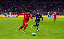 MUNICH, GERMANY - Wednesday, December 11, 2019: Bayern Munich's Serge Gnabry during the final UEFA Champions League Group B match between FC Bayern München and Tottenham Hotspur FC at the Allianz Arena. (Pic by David Rawcliffe/Propaganda)